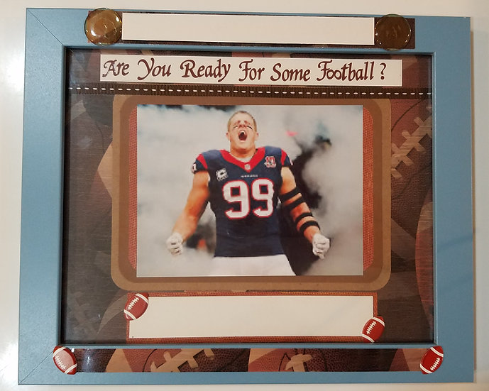 Football - Are You Ready? Football Lovers Scrapbooking Framed Design Gift