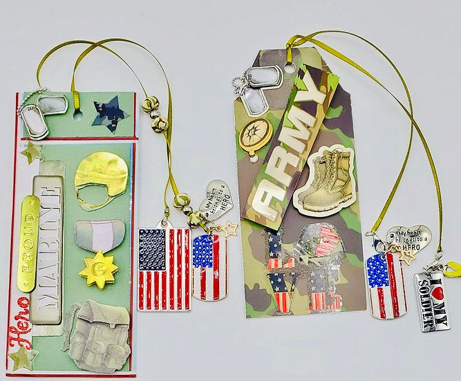 2 Military Bookmarks/Proud Marine/Proud Army I ❤️ My Soldier