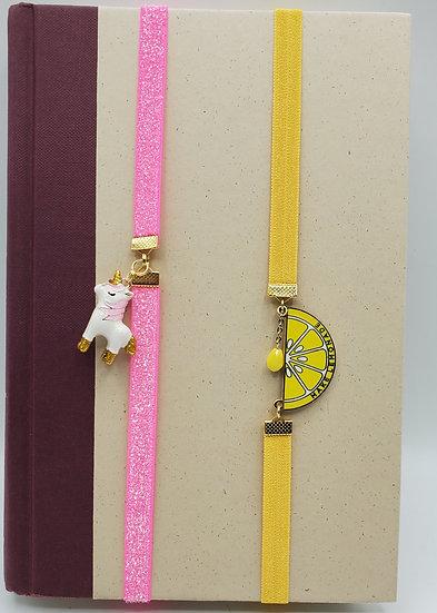 The Unicorn And The Make Lemonade Elastic Wrap Around Bookmarks Gifts
