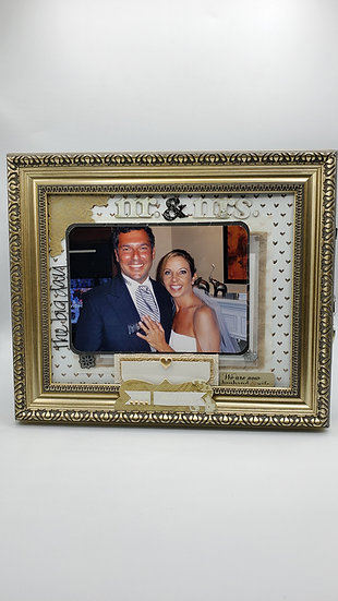 Wedding - Mr. and Mrs./Our Marriage Scrapbooking Framed Design Gift