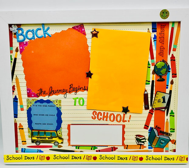 Back to School Scrapbooking Framed Design Gift For Elem./Middle/High School Kids