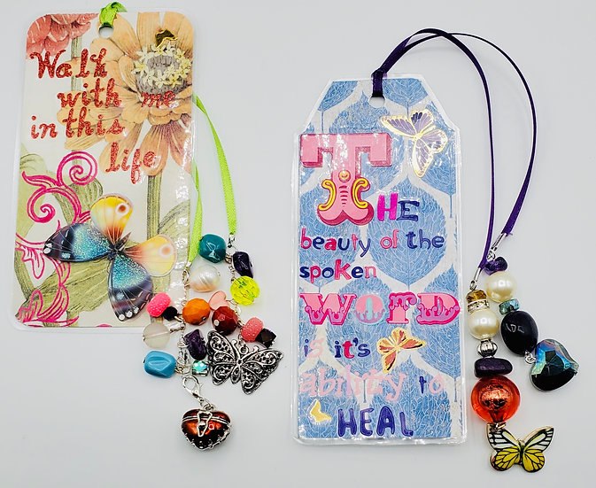 2 Healing Bookmarks: Walk W/Me In Life & The Next /The Beauty of The Spoken Word