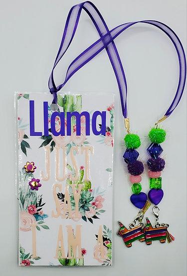 Llama Just Say I Am A Drama Queen Bookmark Gift
