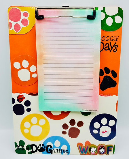 I Love My Dog Doggie Days It's A Dog Thing Clipboard Gift