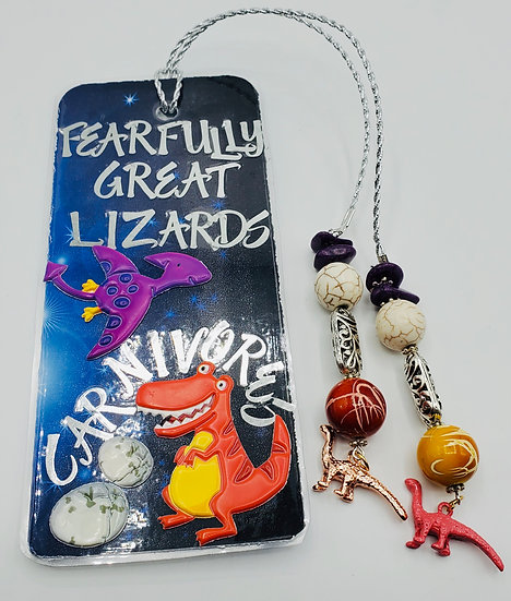 Fearfully Great Lizards Carnivores/Herbivores Bookmark Gift