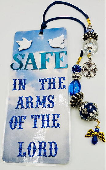 Safe In The Arms Of The Lord Bookmark Gift For Christians