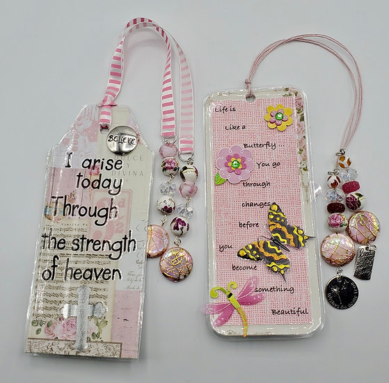 2  Bookmarks: I Arise Through the Strength of Heaven/Life's Like A Butterfly