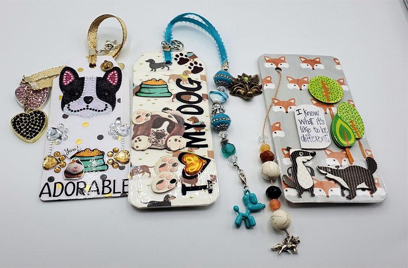 2 Dogs & 1 Fox Bookmarks: Adorable/Balloon Dog/Mr. Fox