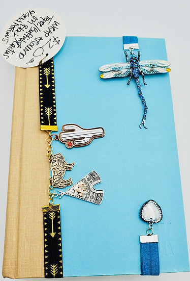Native American & Dragonfly Love Bookmarks on Stretchy Ribbon Gifts