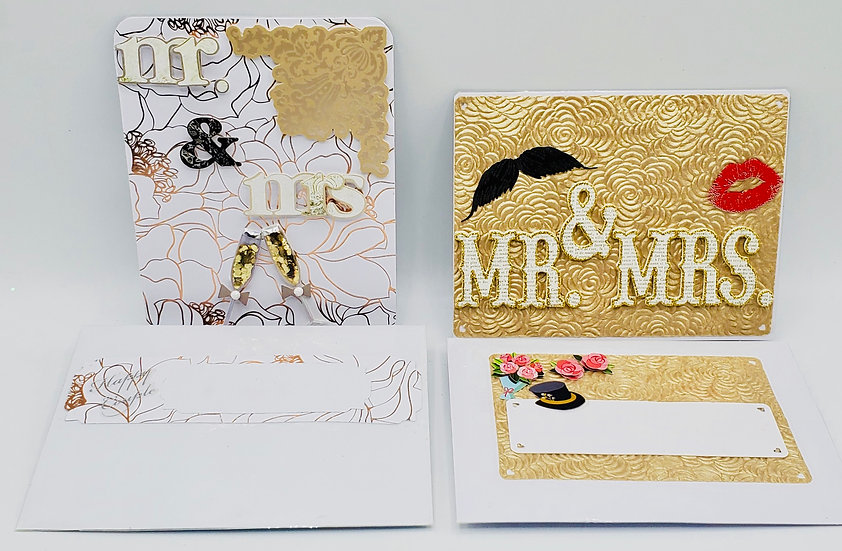 2 Mr. & Mrs. Wedding Cards: Mr. & Mrs. You & Me/Mr & Mrs Or Mr & Mr Or Mrs & Mrs
