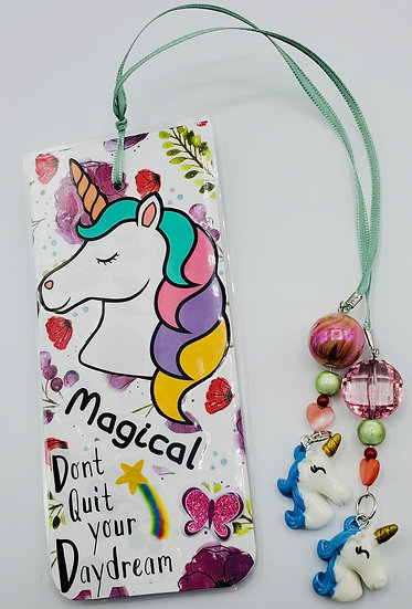 Magical Unicorn Don't Quit Your DayDream/Make Your Own Magic Bookmark Gift