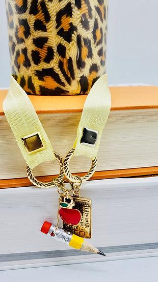 Teacher, Teacher's Aide, Or Principal ElasticBand Bookmark Gift