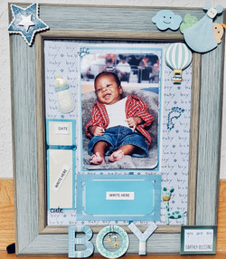 Lofty Dragonfly Scrapbooking Framed Design