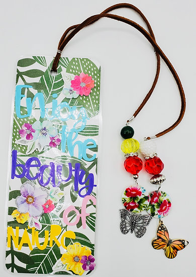 Enjoy The Beauty of Nature Take A Hike Bookmark Gift/Butterfly Lover Gift