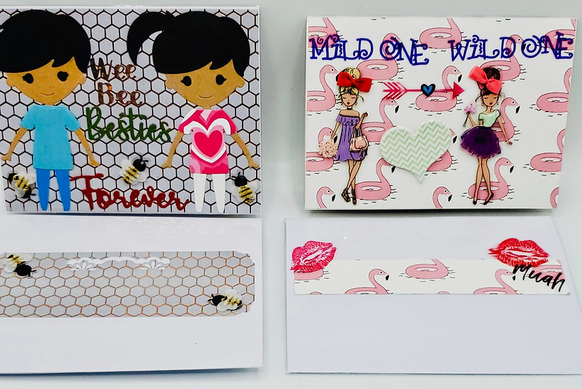 2 Friends Forever Cards: Wee Bee Besties Forever/Mild One Wild One Wanna Switch?