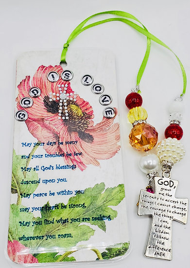God Is Love Bookmark Gift/Serenity Prayer And Blessed Gift