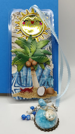 By The Sea Seashells and Lighthouse Bookmark Gift