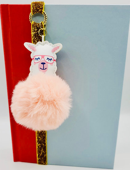 Friends Llama Pink Fur Ball Bookmark Gift For Backpacks, Purses,  Books Gift