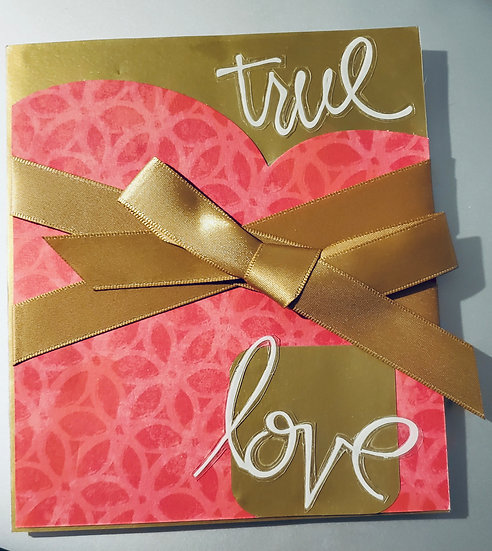 True Love Your Love Fills My Heart With Abundant Bliss Lover's Greeting Card