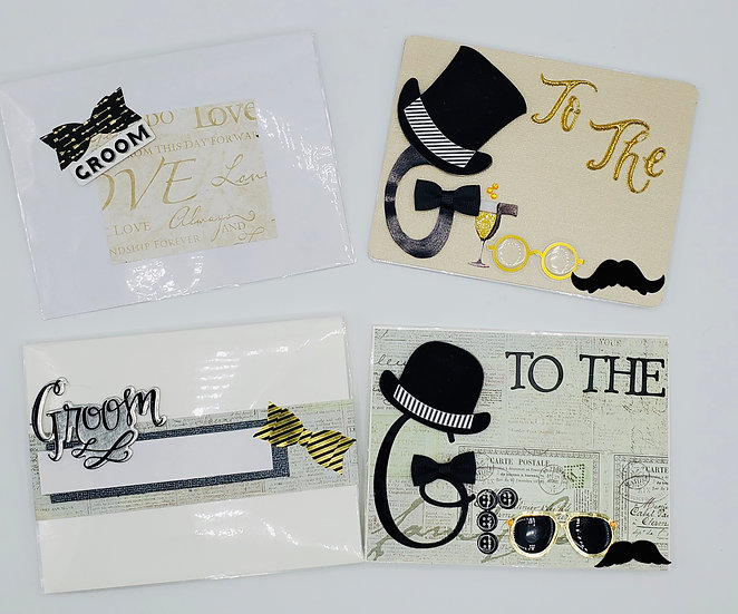 2 Groom Cards: To The Groom Suit Up Card/To The Groom A Toast To The Groom Card