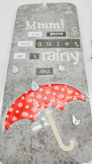 Mmm, The Peace And Quiet of a Rainy Day Bookmark/My Lazy Dream Day Bookmark Gift