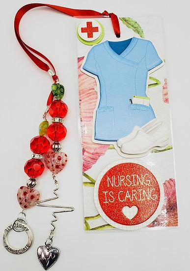 Nursing Is Caring Nurture Heal Best Nurse Ever Bookmark Gift