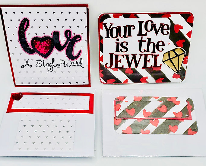 2 LOVE Cards: Love A Single Word A Million Little Things/Your Love Is The Jewel