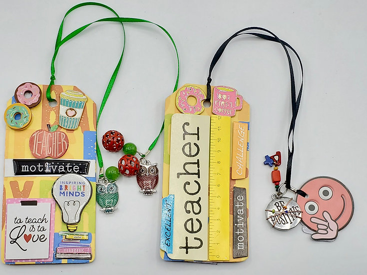 2 Teacher Bookmarks: Teacher Motivate Challenge/I'm a Teacher I Don't Scare Easy
