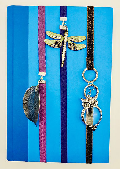 The Leaf, The Dragonfly & The Owl Elastic Ribbon Bookmark Gifts