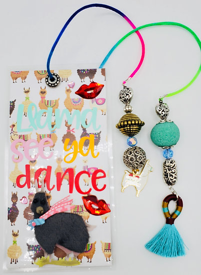 Llama See Ya Dance Ooh, I Wanna Dance With Somebody! Bookmark Gift/Whitney Houst