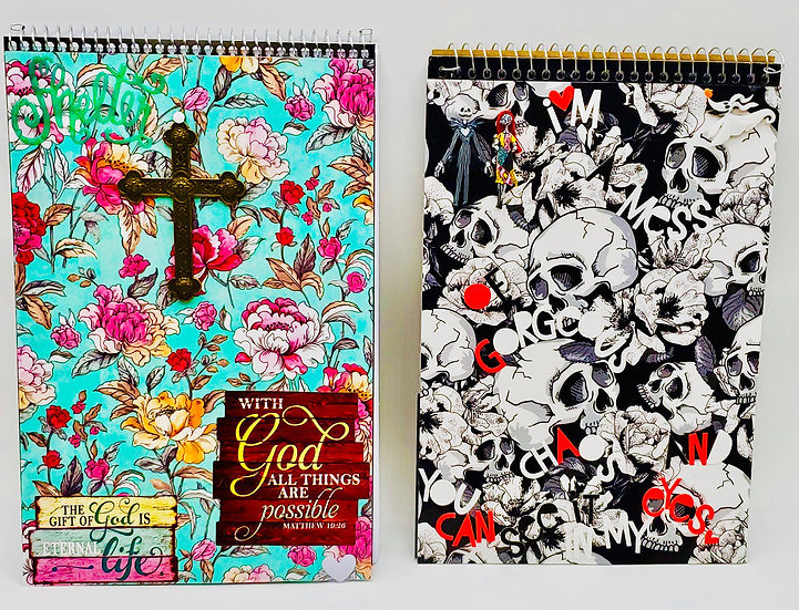 2 Steno Pads For Gifts/With God All Possible/I'm A Mess Of Gorgeous Of Chaos