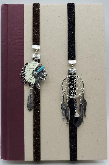 Native American Heritage Bookmarks: Headdress Pendant/Dreamcatcher Pendant Gifts