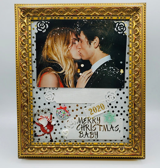 Merry Christmas, Baby 2020 Scrapbooking Framed Design Gift