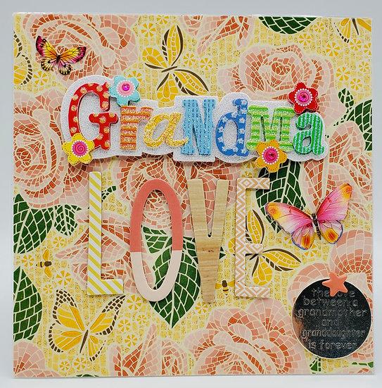 Grandma Love Greeting Card/We Love Grandmas Cookies from Grandkids w/Gift Inside
