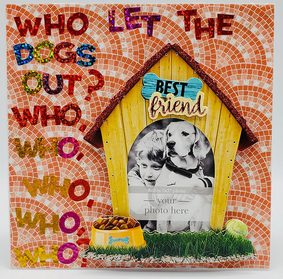 Bachelor Party/Best Man/Who Let The Dogs Out? Who? Let's Party Greeting Card