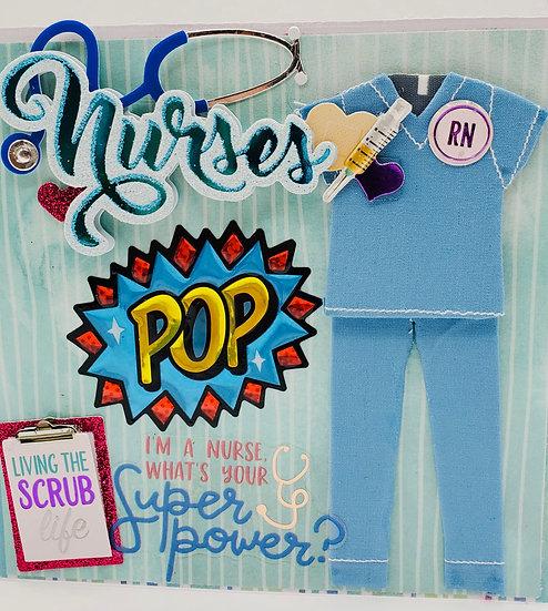 Nurses Call All The Shots Greeting Card/Living The Scrub Life Nurse Card