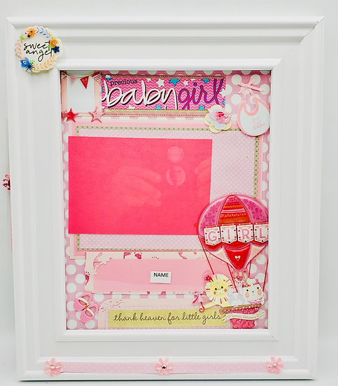 Thank Heaven for Little Girls Beautiful BabyGirl Scrapbooking Framed Design Gift