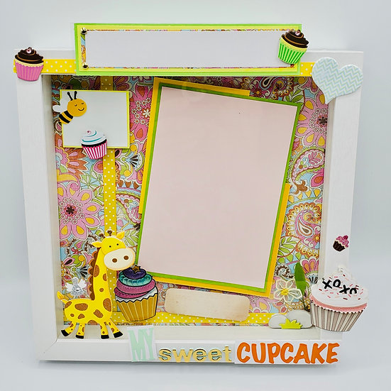 My Sweet Cupcake for Boy or Girl Scrapbooking Gift Frame Design