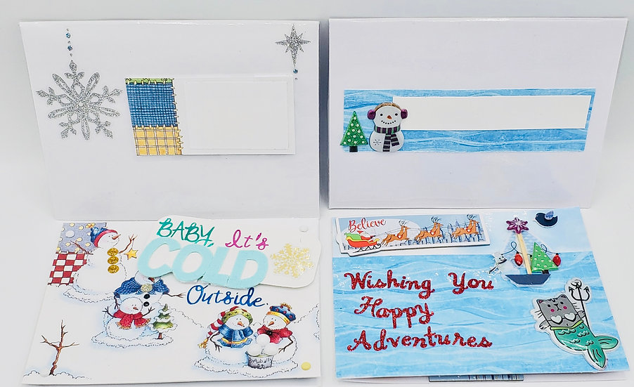 2 Holiday Cards: Baby, It's Cold Outside/Wishing You Happy Adventures