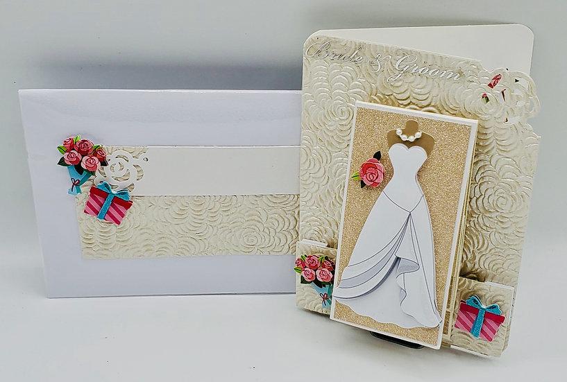 "Wedding Card (Video/Photos) ""Waterfall Designs"" Bride&Groom Greeting Card"