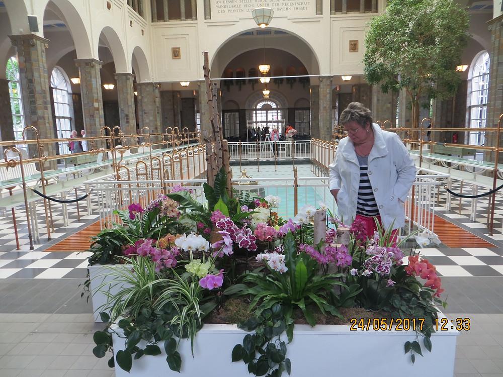 Это в питьевом павильоне. Никогда не видела столько цветущих орхидей!!!