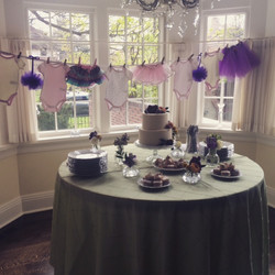 purple cake baby shower event denver