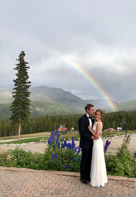 Wedding with Rainbow