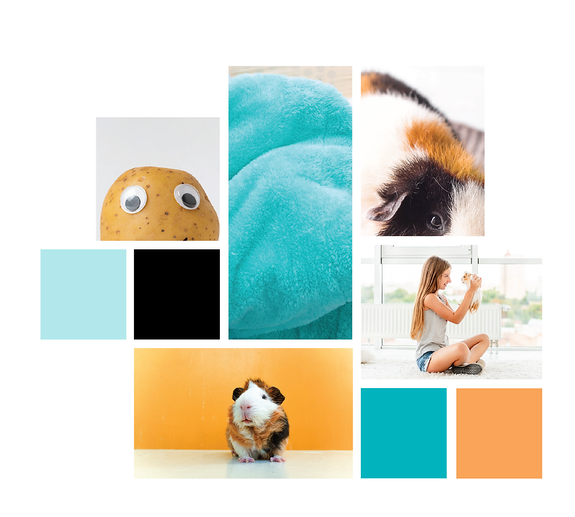 Tater Pets Mood Board Design