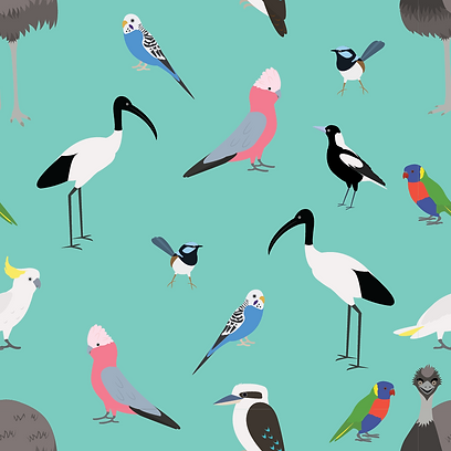 Aussie Bird Pattern