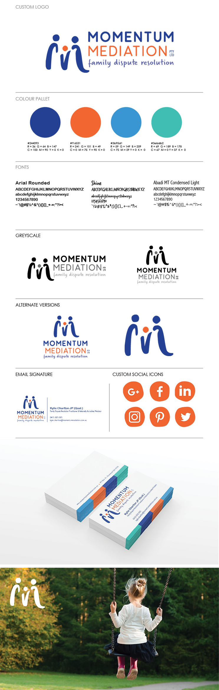 Momention Mediation Logo and Branding De