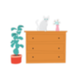 Cat-on-chest-of-drawers-illustration-lr.