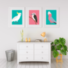 Aussie Bird WAll Art Printables.png