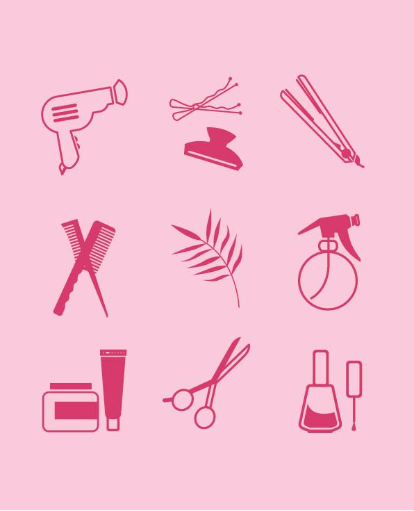 Uniquely illustrated icons