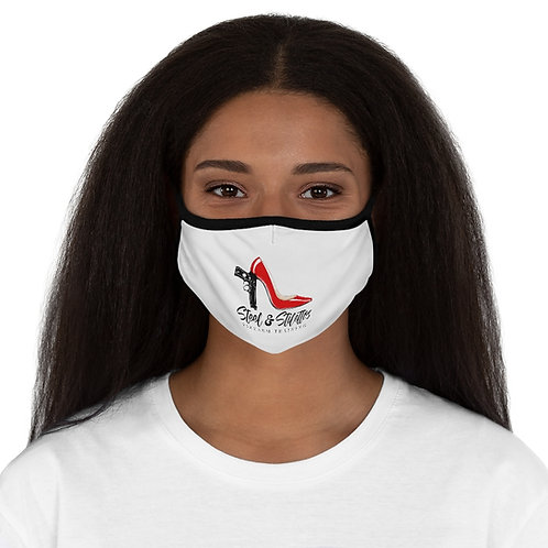 Steel and Stilettos Fitted Polyester Face Mask